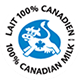 100% Canadian Milk Logo